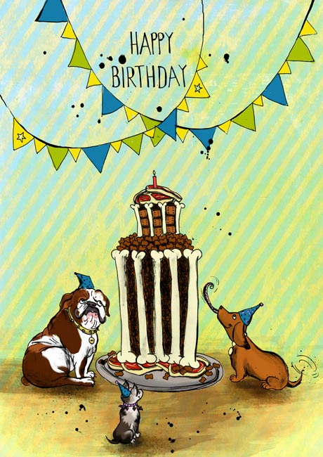 Happy Birthday Card set of 10 – Birthday Card for Dog